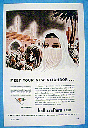 1944 Hallicrafters Radio With Meet Your New Neighbor