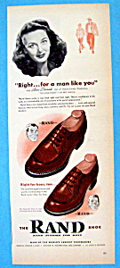 Vintage Ad: 1947 Rand Shoes With Ann Dvorak