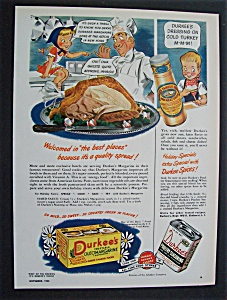 1945 Durkee's Margarine & Durkee's Poultry Seasoning