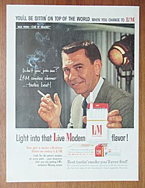 1958 L & M Cigarettes with Jack Webb (Dragnet) (Image1)