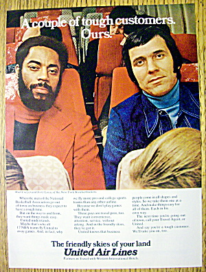 1973 United Air Lines with Walt Frazier & Jerry Lucas (Image1)