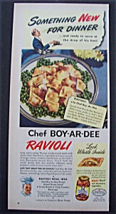 1947 Chef Boy Ar Dee Ravioli