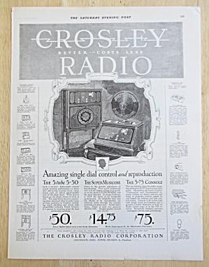 1926 Crosley Radio w/Single Dial Control & Reproduction (Image1)