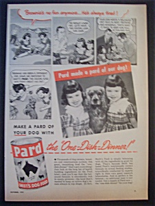 1947 Pard Dog Food with Twin Girls & Dog (Image1)