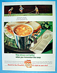 Vintage Ad: 1964 Campbell's Vegetable Soup (Image1)