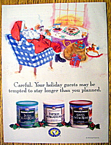 Vintage Ad: 1995 Maxwell House Coffee with Santa Claus (Image1)
