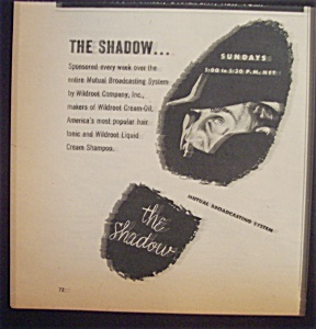 1952 Movie Ad For The Shadow