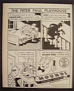 Vintage Ad: 1951 Peter Paul's Mounds Bar (Image1)