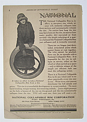 1923 National Collapsible Rim W Woman Holding Rim