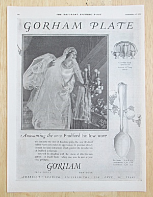 1925 Gorham Silverplate with the Bradford Hollow Ware (Image1)