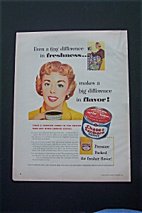 1954 Chase & Sanborn Coffee with Woman Drinking Coffee (Image1)