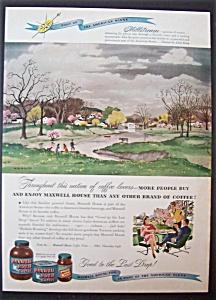 Vintage Ad: 1947  Maxwell  House  Coffee (Image1)