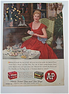 1948 A & P Our Own & Nectar Tea Bags