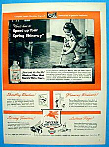 Vintage Ad: 1944 Tavern Non Rub Floor Wax (Image1)