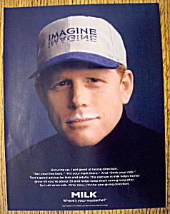 Ad: 1998 Milk (Where's Your Mustache) With Ron Howard