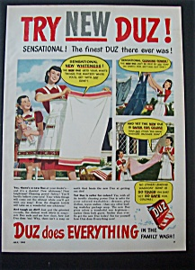 1948 Duz Laundry Detergent with Woman & Laundry (Image1)