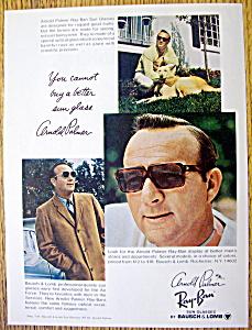 Vintage Ad: 1969 Ray Ban Sun Glasses w/Arnold Palmer (Image1)