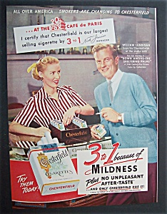 1952  Chesterfield  Cigarettes  with  William  Lundigan (Image1)