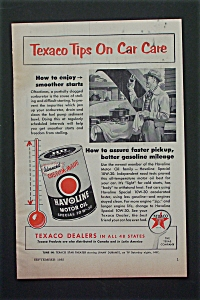 1955 Texaco With Tips On Care Care