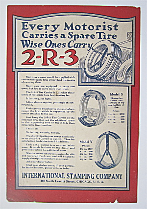 1923 2-r-3 Tire Carrier With Carrier On The Car