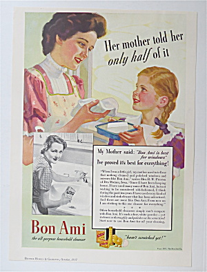 1937 Bon Ami With Woman Talking To A Girl