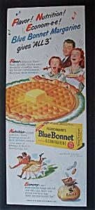 Vintage Ad: 1946 Blue Bonnet Margarine (Image1)