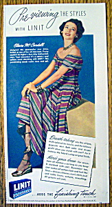 1948 Linit Laundry Starch with Claire Mc Cardell (Image1)