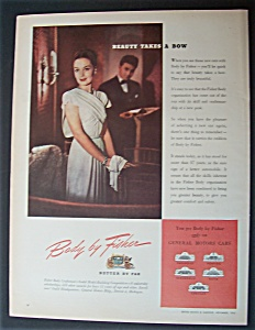 Vintage Ad: 1945 Body By Fisher