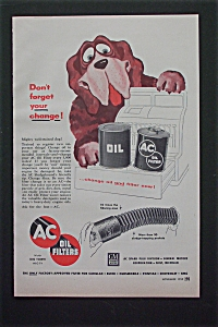 1955 AC Oil Filters with Dog By A Cash Register  (Image1)