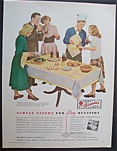 Vintage Ad: 1948 Simtex Cloths (Image1)
