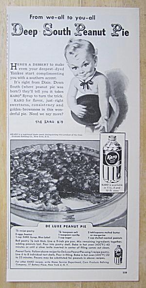 1948 Karo Syrup with The Karo Kid (De Luxe Peanut Pie) (Image1)
