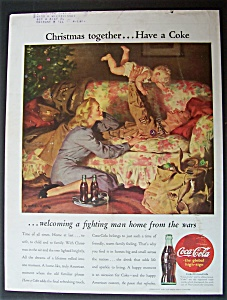 1945 Coca Cola (Coke) with Soldier Playing with Baby (Image1)