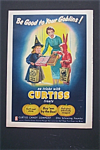 1955 Curtiss Candy Company w/Children Trick or Treating (Image1)
