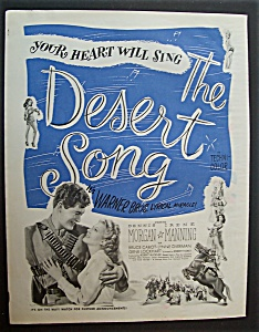 1944 Movie Ad For The Desert Song