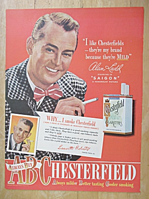 1948 Chesterfield Cigarettes with Alan Ladd (Image1)