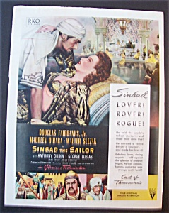 1946 Movie Ad For Sinbad The Sailor