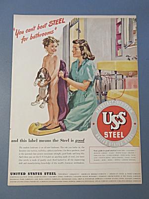 Vintage Ad: 1946  USS  Steel (Image1)