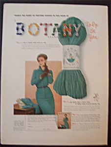 1949 Botany Brand Yarn with Woman In A Dress (Image1)