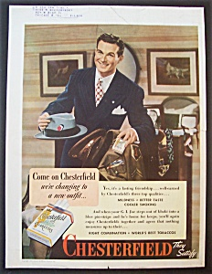 1945 Chesterfield Cigarettes