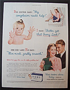 1945 Ivory Soap With 2 Women, Baby & Man