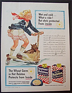 Vintage Ad: 1945 Ralston Cereal (Image1)