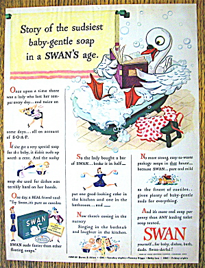1943 Swan Soap with Story Of Sudsiest Baby Gentle Soap (Image1)