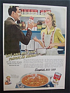 1942 Campbell's Beef Soup