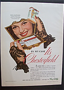 1942 Chesterfield Cigarettes With Rita Hayworth
