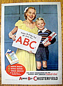 1946 Chesterfield Cigarettes with Happy Birthday Dad (Image1)