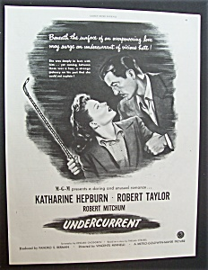 1946 Movie Ad For Undercurrent