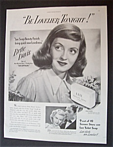 1946 Lux Toilet Soap With Bette Davis