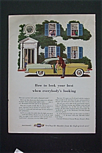 1955 Chevrolet with Man Opening Car Door For Woman  (Image1)