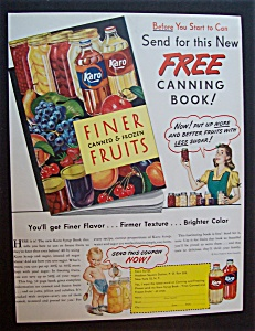 1946 Karo Syrup Finer Canned & Frozen Fruits