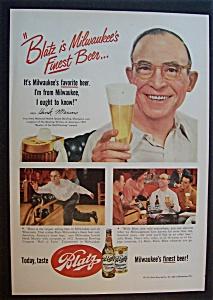 Vintage Ad: 1952 Blatz Beer with Hank Marino (Image1)